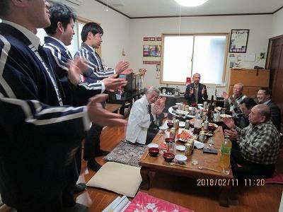 多聞青年団OB・餅会    大祭奉仕部会    講中まわり_b0092684_18591417.jpg