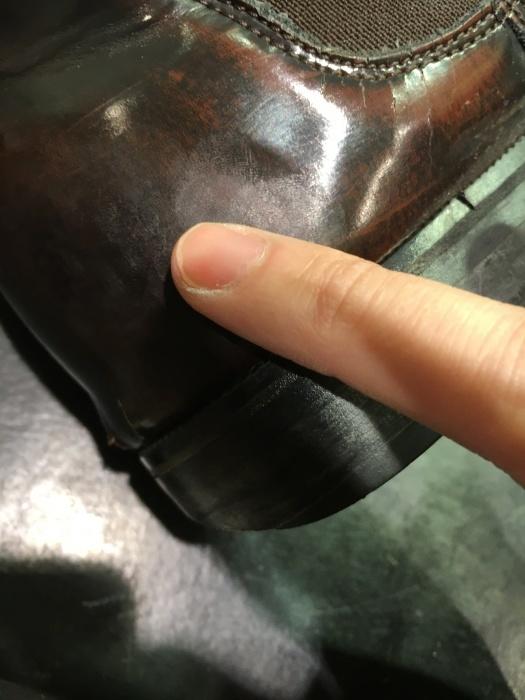 激しくできたガラスレザーの傷隠しは成功するのか!?その②_b0226322_16091632.jpg