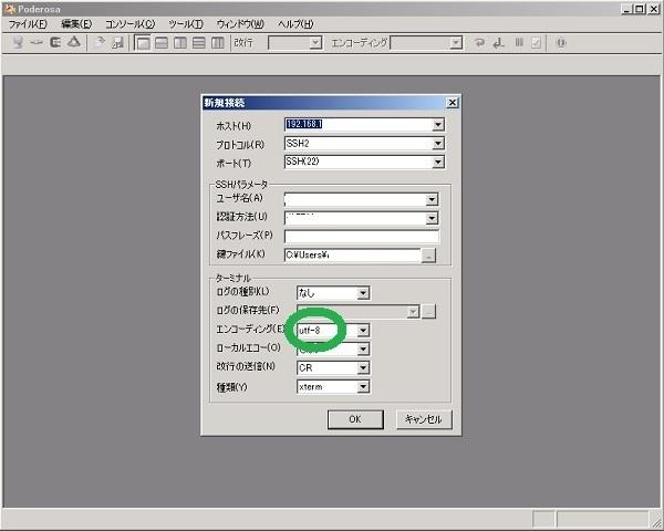 Poderosa端末で文字化け対処_f0182936_19485688.jpg