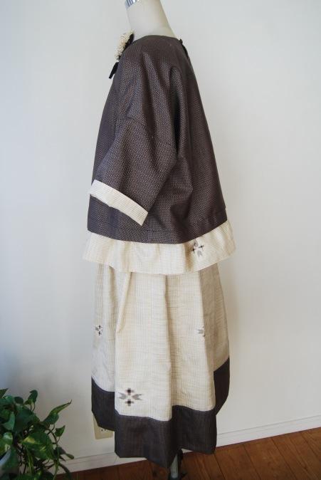 着物リメイク・2枚の紬からブラウス&スカート_d0127925_12495406.jpg