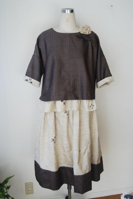 着物リメイク・2枚の紬からブラウス&スカート_d0127925_12502342.jpg