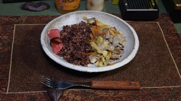 夕飯は豚肉の野菜炒め_e0166355_20091658.jpg