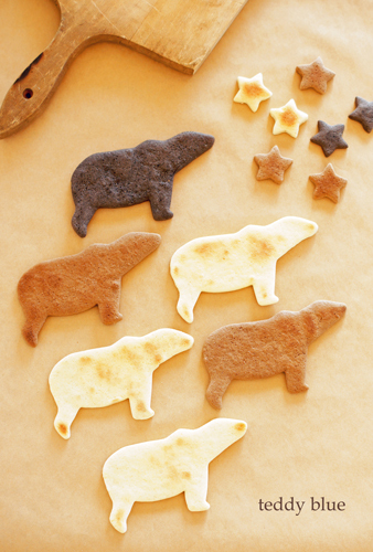 brown bear, black bear & polar bear cookies  クマクッキー_e0253364_23445738.jpg