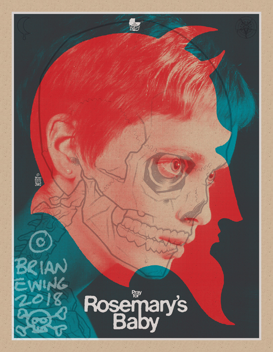 ROSEMARY\'S BABY screen print by Brian Ewing_c0155077_16584760.jpg