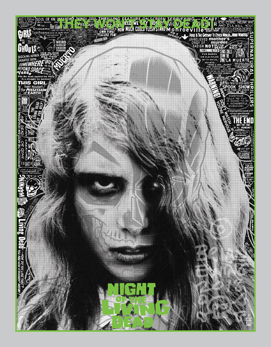 NIGHT OF THE LIVING DEAD screen print by Brian Ewing_c0155077_17174994.jpg