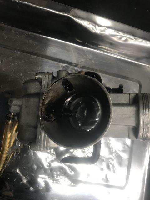 SR400 カスタム かち上げトランペットマフラー完成!_a0164918_17161246.jpg
