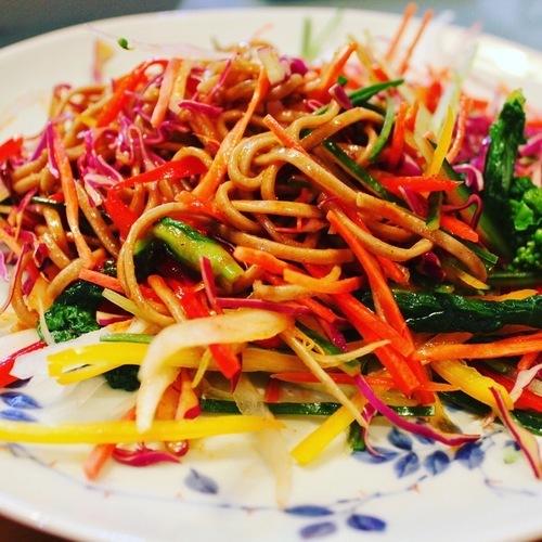 三度目の大邱レポ番外編、お土産レシピ。韓国風蕎麦サラダ、チェンバンククス作ってみた。おまけは「今日なに食べる?」のタッカルビ。_a0223786_15485781.jpg