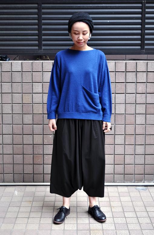 綿麻 ワイドポケットセーター / FACTORY_d0193211_19455837.jpg