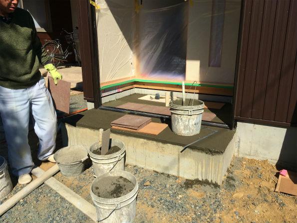 森町谷中 Fさんの離れ家 ★内装工事、木製建具工事、タイル工事_d0205883_15321907.jpg