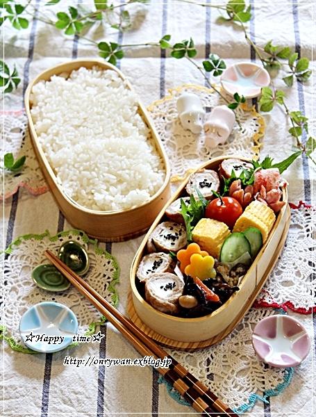 白はんぺんで肉巻き弁当と今夜はあさりの酒蒸し♪_f0348032_18262271.jpg
