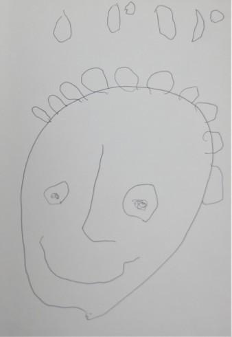 パパの似顔絵by4歳_f0006713_22015748.jpg