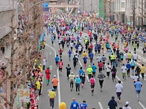 東京マラソン、手荷物預かりボランティア&観戦_c0100865_21475243.jpg