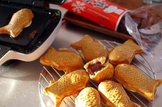 手作りたい焼きの中に、くじら餅を入れてみる。_c0110869_17334575.jpg