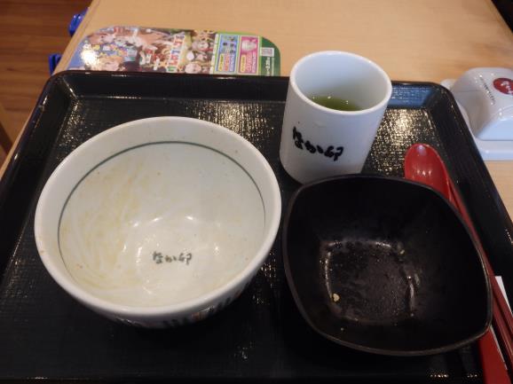なか卯の和風牛丼ミニ      関目店_c0118393_18264932.jpg