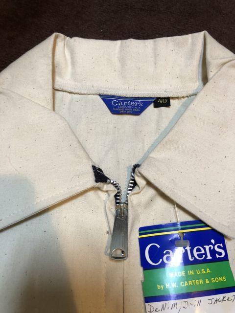 アメリカ仕入れ情報#37  80s CARTER\'S  OFF WHITE DENIM Drill JACKET !_c0144020_12511597.jpg