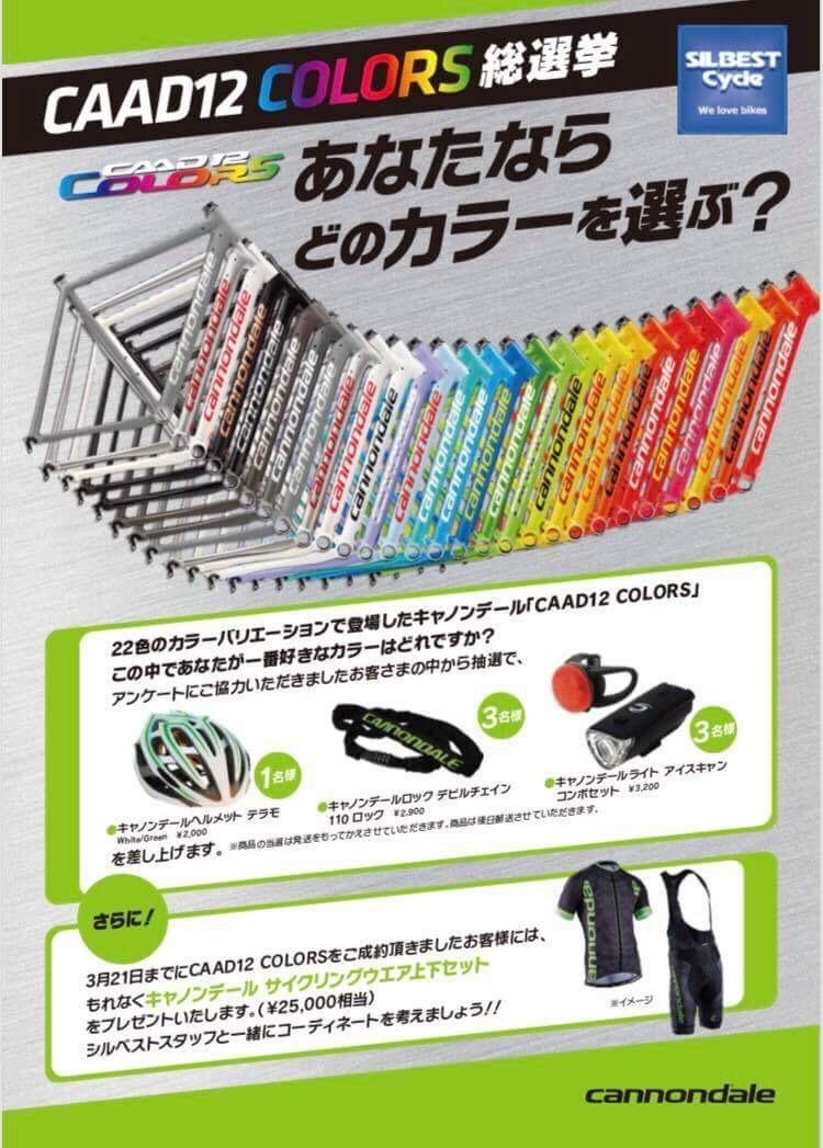 2/26〜 キャノンデール CADD12 COLORS 22種類勢揃い_c0188525_12463028.jpeg