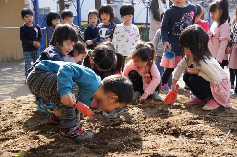 年中組~畑の土づくりをしています!_f0356892_18302385.jpg