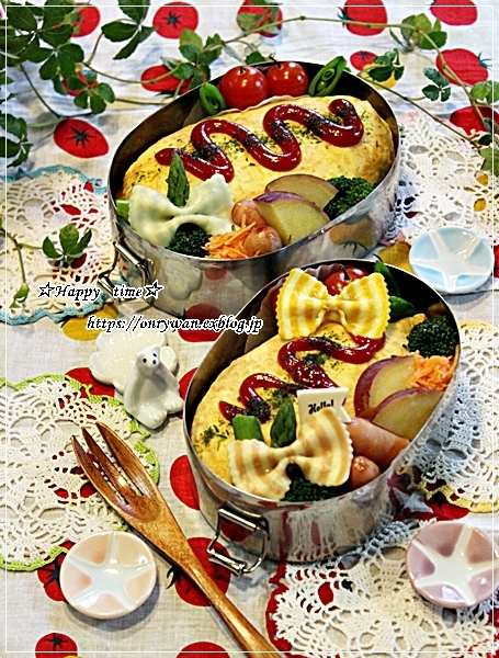 オムライス弁当と今夜のおうちごはん♪_f0348032_18192904.jpg