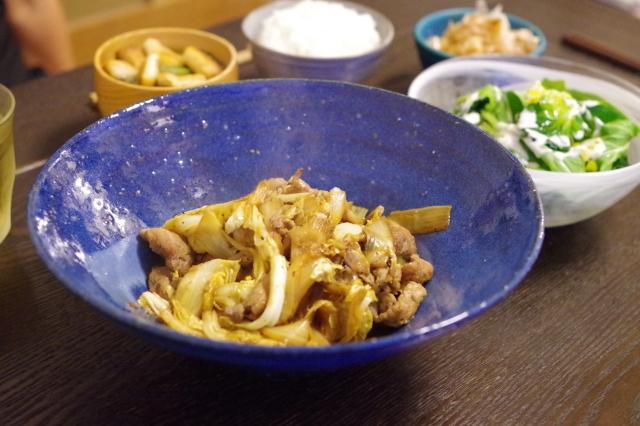 白菜と豚肉のオイスターソース炒め。味噌の仕込み2018._c0234685_23191040.jpg