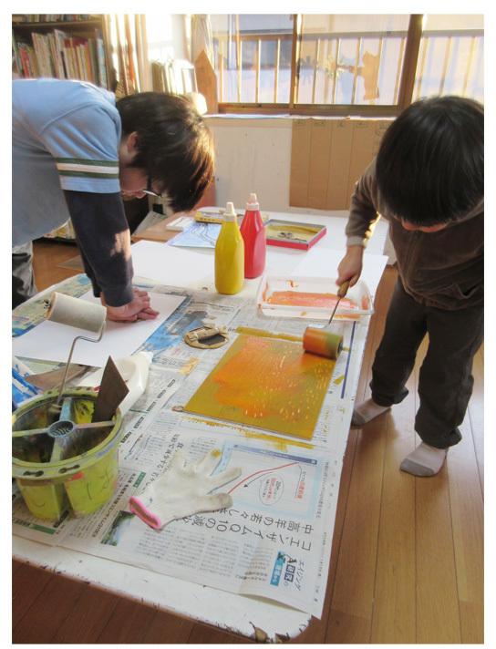 木版画①・小学生クラス(上高野・比良)_f0211514_23103225.jpg