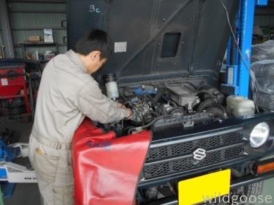 JA11 ジムニー パワステギアボックス オイル漏れ 修理(*´﹀`*)_c0213517_15362473.jpg