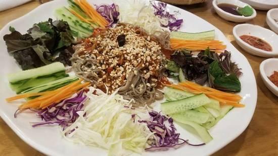三度目の大邱レポ番外編、お土産レシピ。韓国風蕎麦サラダ、チェンバンククス作ってみた。おまけは「今日なに食べる?」のタッカルビ。_a0223786_08524614.jpg