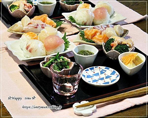牛肉のオイスター炒め弁当と今夜は手まり寿司♪_f0348032_18234466.jpg
