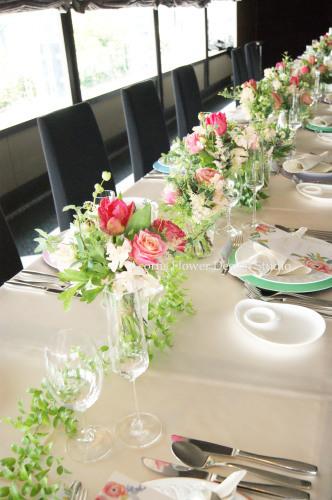 パーティーテーブル装花_f0215262_13421783.jpg
