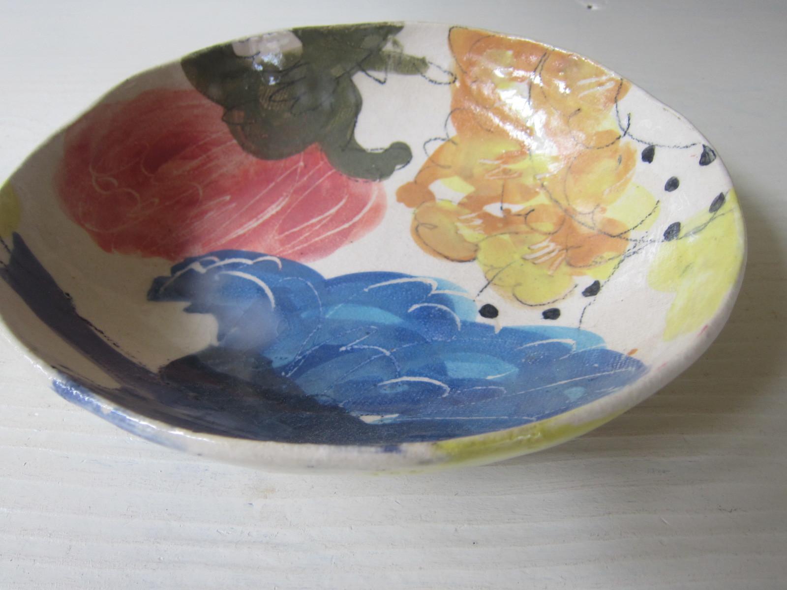 トロピカル柄のカレー皿/伊集院真理子さん。_b0207631_08184919.jpg