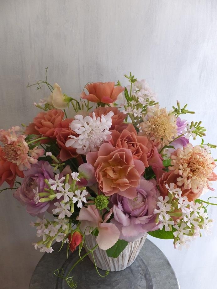 オークリーフ(薔薇と草花のアレンジメント)_f0049672_11443555.jpg