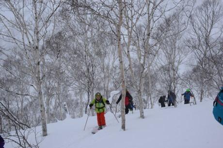 2018年1月21日ニセコ五色温泉に泊まり、裏のメクンナイ岳を滑る_c0242406_17035881.jpg