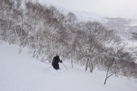 2018年1月21日ニセコ五色温泉に泊まり、裏のメクンナイ岳を滑る_c0242406_17310979.jpg