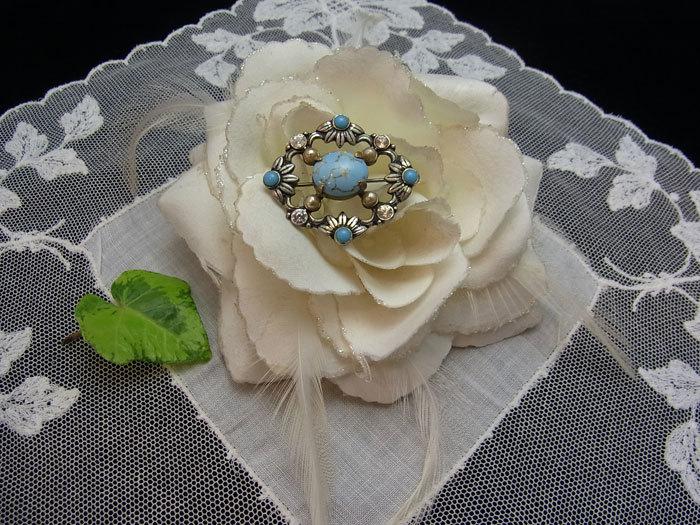 春色ブローチ......ターコイス・ガラス_d0127182_15544078.jpg