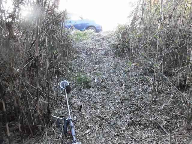 金属疲労?で草刈り機がポッキリも  滝川の竹林退治に向けて「完全武装」で通路確保_f0141310_08084184.jpg