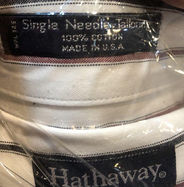 3月10日(土)入荷!80s 90s  デッドストック MADE IN U.S.A all cotton Hathaway B.D シャツ!_c0144020_14410518.jpg