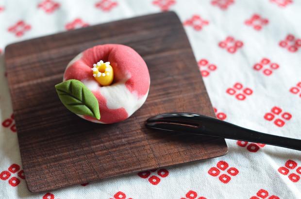 寒椿の練り切り  Homemade Camellia Nerikiri_d0025294_20523654.jpg
