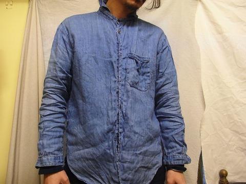 その後 / classic frenchwork herringbone indigolinen shirt , indigo_e0130546_12261618.jpg