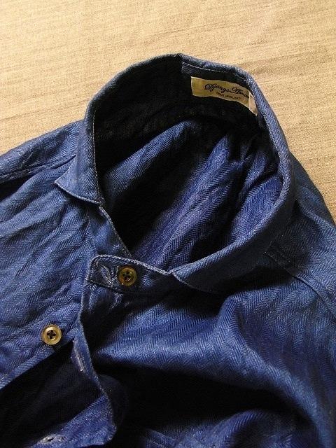 その後 / classic frenchwork herringbone indigolinen shirt , indigo_e0130546_12304341.jpg