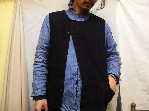 その後 / classic frenchwork herringbone indigolinen shirt , indigo_e0130546_12321949.jpg