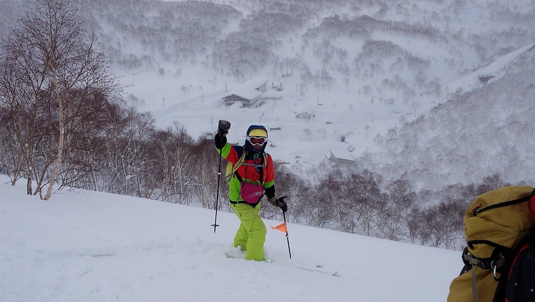 2018年1月21日ニセコ五色温泉に泊まり、裏のメクンナイ岳を滑る_c0242406_14193312.jpg