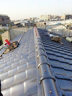 板橋区の赤塚で、瓦屋根取り替え工事_c0223192_22374392.jpg