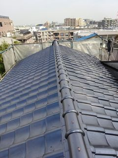 板橋区の赤塚で、瓦屋根取り替え工事_c0223192_22374758.jpg