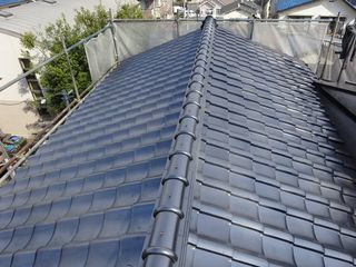 板橋区の赤塚で、瓦屋根取り替え工事_c0223192_22375159.jpg