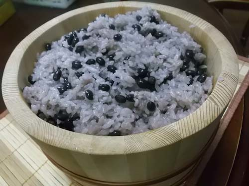 黒千石大豆ご飯&おから煮&昼は「くら寿司」_f0019498_14395070.jpg