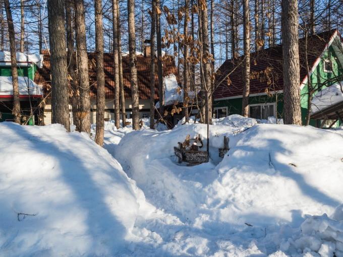 """今年の""""屋根からの落雪""""例年にない激しさでした。_f0276498_23493315.jpg"""