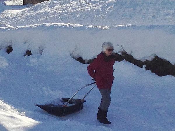散歩 と 雪かき_a0353839_15204331.jpg
