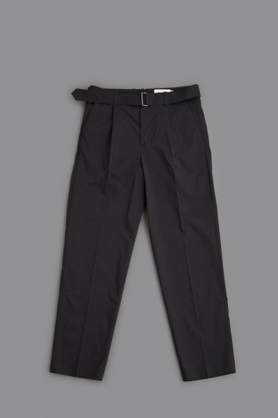 STILL BY HAND  C/P Belted Pants (Black) - un.regard.moderne