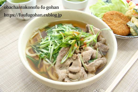 豚しゃぶと水菜うどん&おじさん作にしん蕎麦_c0326245_11245527.jpg