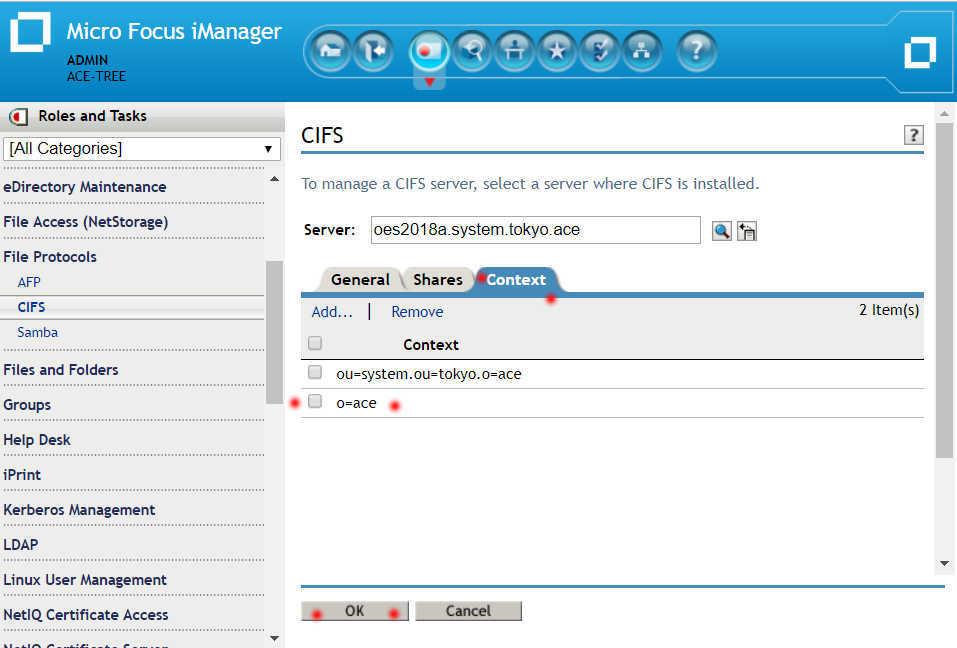 OES 2018 Linux で SMB ファイルサーバーのフォルダ容量制限(ディレクトリクォータ)_a0056607_13094033.jpg
