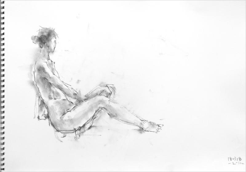 《 「三月弥生裸婦素描」 4  》_f0159856_18494258.jpg